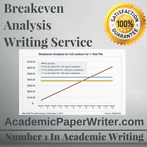 Breakeven Analysis Writing Service