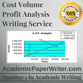 Cost Volume Profit Analysis Writing Service