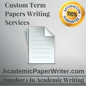 Custom Term Papers Writing Services