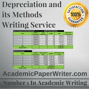 Depreciation and its Methods Writing Service