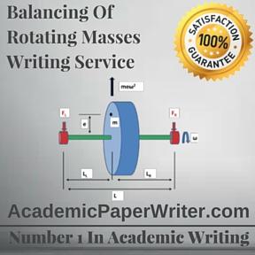Balancing Of Rotating Masses Writing Service