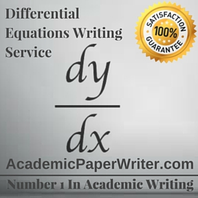 Differential equations Writing Service