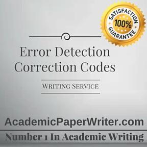 Error Detection Correction Codes Writing Service