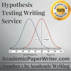 Hypothesis Testing Writing Service