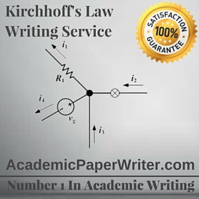 Kirchhoff's Law Writing Service