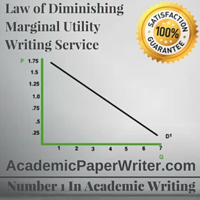 Law of Diminishing Marginal Utility Writing Service
