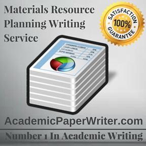 Materials Resource Planning Writing Service