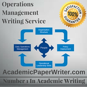 Operations Management Writing Service