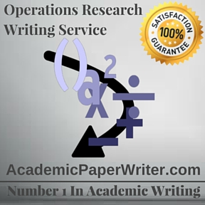 Operations Research Writing Service