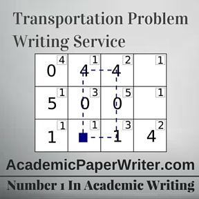 Transportation Problem Writing Service