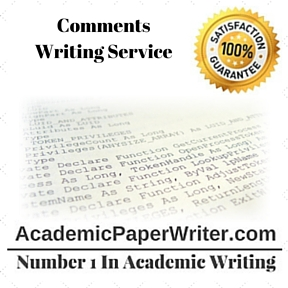Comments Writing Service