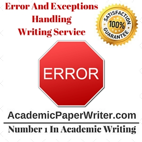 Error And Exceptions Handling Writing Service