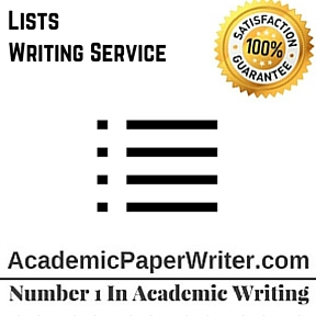 Lists Writing Service