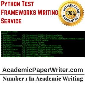 Python Test Frameworks Writing Service