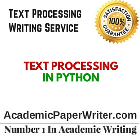 Text Processing Writing Service