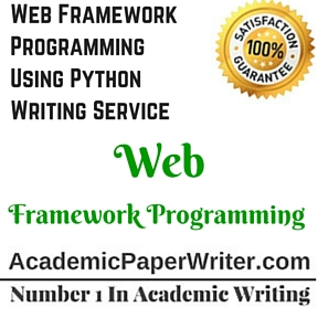 Web Framework Programming Using Python Writing Service