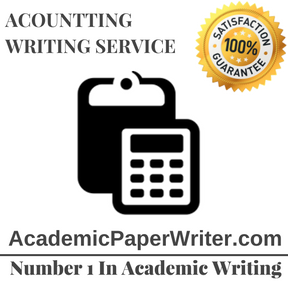 ACOUNTTING WRITING SERVICE