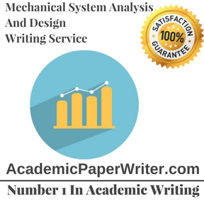 Mechanical System Analysis And Design writing service