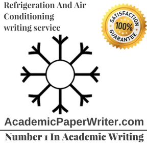 Refrigeration And Air Conditioning writing service