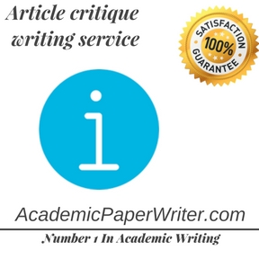 Article critique writing service