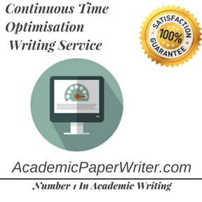 Continuous Time Optimisation Writing Service